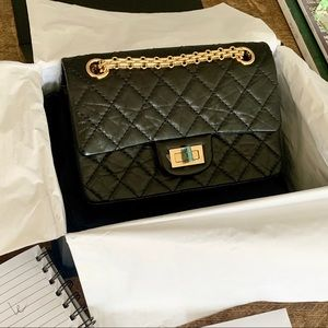 Chanel classic black reissue mini 224 GHW bag